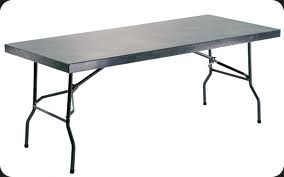 Steel folding Tables.
